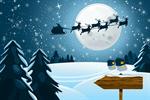 Сlipart Christmas Santa Claus Snow Sleigh Reindeer vector  BillionPhotos