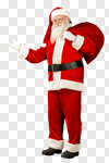 Сlipart Santa Claus Christmas Isolated Standing Bag photo cut out BillionPhotos
