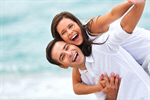 Сlipart Beach Heterosexual Couple Cheerful Smiling Happiness photo  BillionPhotos