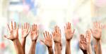 Сlipart Human Hand Education Asking Multi-Ethnic Group Hand Raised   BillionPhotos