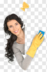 Сlipart cleaning maid women asian spring photo cut out BillionPhotos