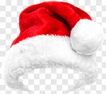 Сlipart Santa Hat Christmas Hat Isolated Holiday photo cut out BillionPhotos