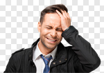 Сlipart Men Pain Crying Headache Distraught photo cut out BillionPhotos