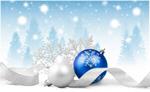 Сlipart xmas seasonal blue background white   BillionPhotos