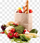 Сlipart Fruit Vegetable Groceries Paper Bag Shopping photo cut out BillionPhotos