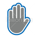 Сlipart high-five high five palm manual Hand Sign vector icon cut out BillionPhotos