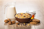 Сlipart cereal bowl granola milk oatmeal photo  BillionPhotos
