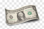 Сlipart One Dollar Bill US Paper Currency Single Object Dollar Sign Number 1 photo cut out BillionPhotos