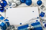 Сlipart Christmas Christmas Card Holiday Greeting Card Blue photo  BillionPhotos