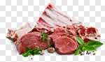 Сlipart chop meat lamp raw barbecue photo cut out BillionPhotos