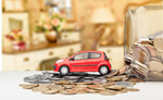 Сlipart Car on coin Car Insurance Loan Currency   BillionPhotos