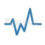 Сlipart Curve Graph Cardiogram Pulse Line diagram vector icon cut out BillionPhotos