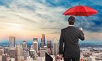 Сlipart man with umbrella on city background Insurance Umbrella Insurance Agent Business   BillionPhotos