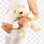 Сlipart Human Pregnancy Women Abdomen Single Flower Naked photo cut out BillionPhotos