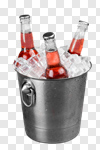 Сlipart Beer Bottle Beer Bucket Cinco De Mayo Ice photo cut out BillionPhotos