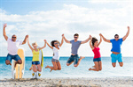 Сlipart students beach group teens fun photo  BillionPhotos