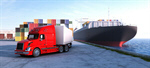 Сlipart Freight Transportation Transportation Cargo Container Shipping Truck 3d  BillionPhotos