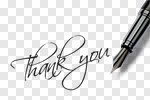 Сlipart Thank You Fountain Pen Pen Gratitude Letter photo cut out BillionPhotos