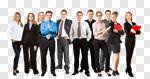 Сlipart success business group cheering power photo cut out BillionPhotos