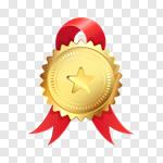 Сlipart award ribbon certificate badge gold vector cut out billionphotos