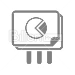 Сlipart Graph Chart Pie Chart Diagram Report vector icon cut out BillionPhotos