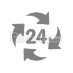 Сlipart 24 Hrs Clock Arrow Arrow Sign Accessibility vector icon cut out BillionPhotos