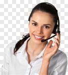 Сlipart Customer Service Representative Receptionist Service Call Center Telephone photo cut out BillionPhotos