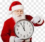 Сlipart Santa Claus Christmas Clock Urgency Time photo cut out BillionPhotos