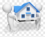 Сlipart Moving House Relocation House Action Three-dimensional Shape 3d cut out BillionPhotos