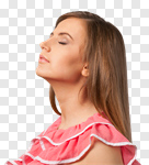 Сlipart Inhaling Breathing Exercise Relief Women Sun photo cut out BillionPhotos
