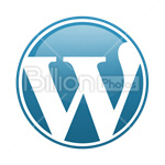 Сlipart wordpress wp wordpress icon wp symbol wordpress favicon vector icon cut out BillionPhotos