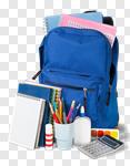 Сlipart backpack for school school backpack back background photo cut out BillionPhotos