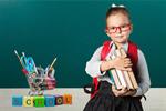 Сlipart school kid school kid backpack blackboard   BillionPhotos