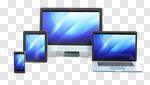 Сlipart Digital Tablet Mobile Phone Smart Phone Laptop Desktop PC 3d cut out BillionPhotos