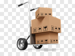 Сlipart Delivering Box Package Transportation Hand Truck 3d cut out BillionPhotos
