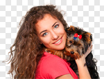 Сlipart Dog Women People Pets Animal photo cut out BillionPhotos
