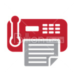 Сlipart Phone Telephone Fax Electronics Industry Communication vector icon cut out BillionPhotos