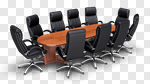 Сlipart Board Room Conference Table Office Table Furniture 3d cut out BillionPhotos
