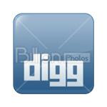 Сlipart digg Social Media social button Sharing Bookmark vector icon cut out BillionPhotos