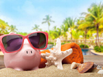Сlipart Vacations Currency Travel Piggy Bank Beach   BillionPhotos