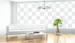 Сlipart Window Living Room Indoors White Domestic Room 3d cut out BillionPhotos