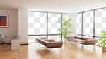 Сlipart Indoors Domestic Room Contemporary Home Interior Sparse 3d cut out BillionPhotos