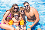 Сlipart swimming pool son dad mum photo  BillionPhotos