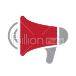 Сlipart megaphone speaker loud alarm alert vector icon cut out BillionPhotos