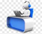 Сlipart Call Center Three-dimensional Shape Computer Support Customer Service Representative 3d cut out BillionPhotos