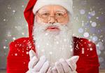 Сlipart santa claus snow red blowing   BillionPhotos