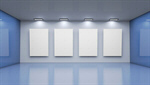 Сlipart blue modern interior gallery contemporary 3d  BillionPhotos