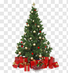 Сlipart Christmas Tree Christmas Christmas Decoration Gift Christmas Lights 3d cut out BillionPhotos