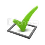Сlipart Success Check Mark Checklist Questionnaire Choice vector icon cut out BillionPhotos