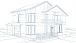 Сlipart Blueprint House Three-dimensional Shape Sketch Drawing 3d  BillionPhotos